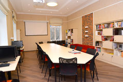 Conference room at institute of a development of education royalty free stock photo