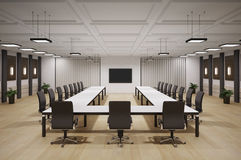 Conference room interior 3d Royalty Free Stock Images