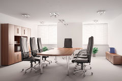 Conference room interior 3d Royalty Free Stock Image