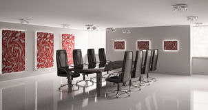 Conference room interior 3d Stock Photo