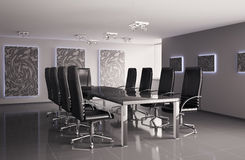 Conference room interior 3d Stock Photos