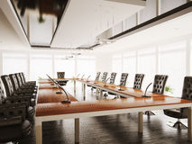 Conference room interior 3d render Stock Photography