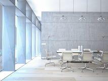 Conference room interior stock illustration