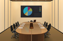 Conference Room Interior Design Illustration Stock Image