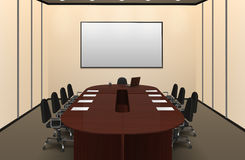 Conference Room Interior Illustration Stock Photos