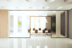 Conference room interior. Modern conference room interior. 3D Rendering Stock Photo
