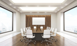 Conference room interior with whiteboard Royalty Free Stock Image