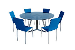 Conference room, isolated on white - this is render illustration Royalty Free Stock Images
