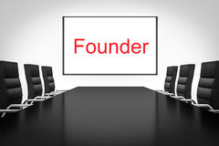 Conference room with large whiteboard founder Royalty Free Stock Photography
