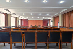 Conference room layout. The picture is a conference room  layout and decoration Royalty Free Stock Image