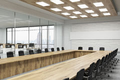 Conference room with long table Stock Photography