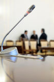 Conference room microphone. Royalty Free Stock Photography