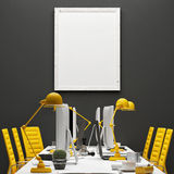 Conference room, mock up office, poster background Royalty Free Stock Images
