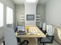Conference room in the morning. 3D rendering of an empty meeting room Stock Photo