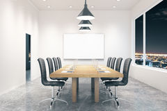 Conference room night Royalty Free Stock Photo