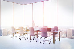 Conference room with panoramic windows Stock Images