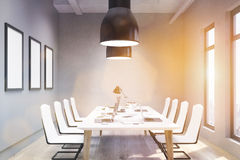 Conference room with picture frames Royalty Free Stock Photo