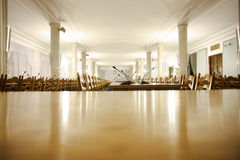 Conference room in Polish Parliament Royalty Free Stock Photo