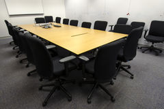 Conference room preparation Royalty Free Stock Photography