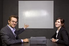Conference Room with Projector Royalty Free Stock Images