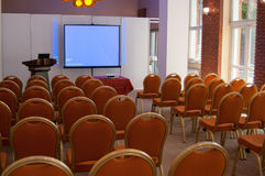 Conference room with projector Royalty Free Stock Image