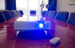 Conference room with projector Stock Image