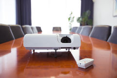 Conference room with projector Royalty Free Stock Photography