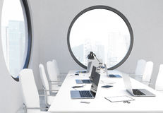 Conference room sideview Stock Photos