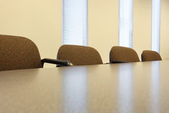 Conference room table Stock Images