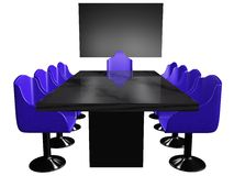 Conference Room Table Royalty Free Stock Image