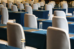 Conference room table and chairs Stock Photography