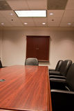 Conference Room Table and Leather Chairs Stock Images