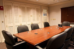 Conference Room Table with Phone on End Royalty Free Stock Image
