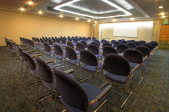 Conference room with theater seating Stock Photography