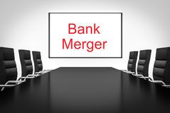 Conference room whiteboard bank merger Stock Images