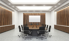 Conference room with whiteboard Royalty Free Stock Photography