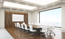 Conference room with whiteboard side Royalty Free Stock Photography