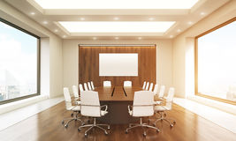 Conference room with whiteboard toning Royalty Free Stock Photo