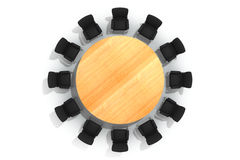 Conference round table and chairs Royalty Free Stock Image