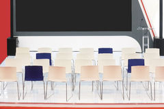 Conference stage chairs Stock Image