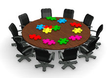 Conference Tabel Puzzles Stock Image