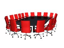 Conference table Royalty Free Stock Image