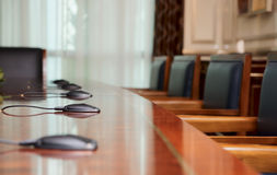Conference table. In vip class business center Royalty Free Stock Images