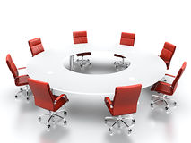 Conference table. Royalty Free Stock Image