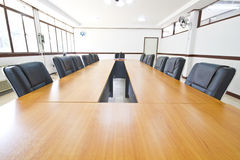 Conference table. In conference room Stock Photos