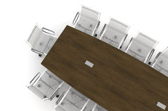 Conference Table-3d illustration Stock Images