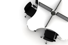 Conference Table-3d illustration Stock Photos