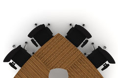 Conference Table-3d illustration Stock Photo