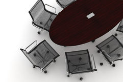 Conference Table-3d illustration Royalty Free Stock Image