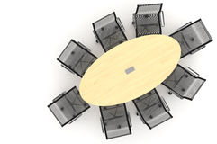 Conference Table-3d illustration Royalty Free Stock Images